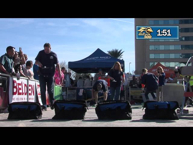 THE MARSHALLTOWN TROWEL RACE AT THE 2015 SPEC MIX BRICKLAYER 500® WORLD CHAMPIONSHIP