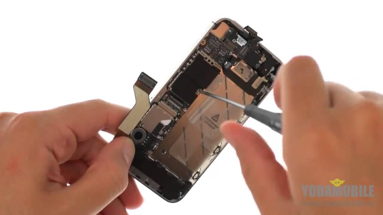 пошаговая инструкция замены верхнего шлейфа iphone 5