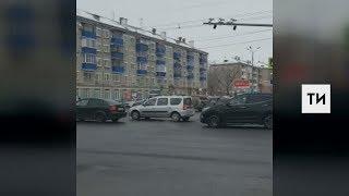 Появилось видео с места наезда на инспектора ГИБДД в Казани