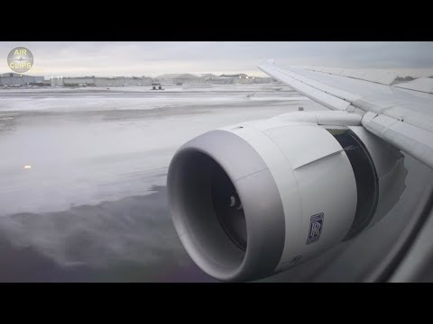AMAZING B787 SNOW-PLOW-THRUST-REVERSE!!! During April (!) Snow-Storm in Toronto [AirClips]