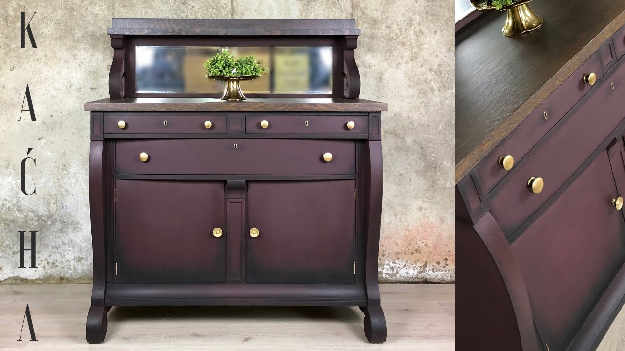 How To Layer With Metallic Paint Furniture Makeover Youtube