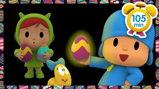 🐣 POCOYO in ENGLISH - Coloring Easter Eggs [105 min]  Full Episodes | VIDEOS & CARTOONS for KIDS