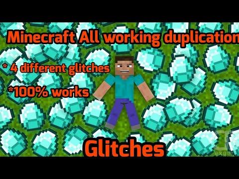 All Working Minecraft Duplication Glitches   4 Different Kind Of Minecraft Glitches  100% Works