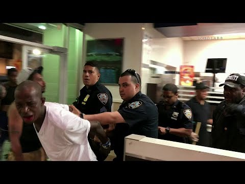 NYPD Action: Foot Pursuit & 3 Arrested In Bronx Mcdonalds.