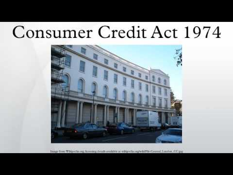 Consumer Credit Act 1974