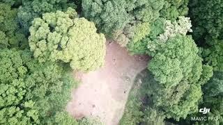 高嶺城(山口市)空撮ビデオ