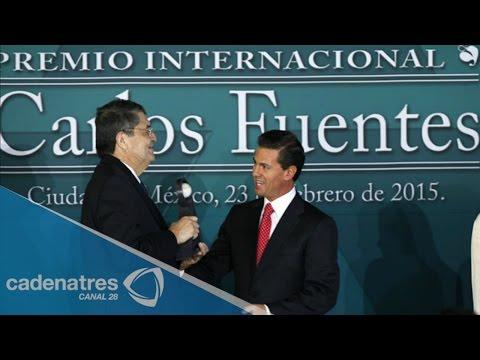Sergio Ramírez recibe el Premio Internacional Carlos Fuentes