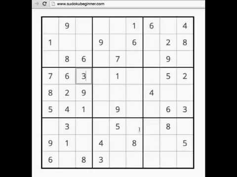 How To Solve An Easy Sudoku Puzzle Youtube