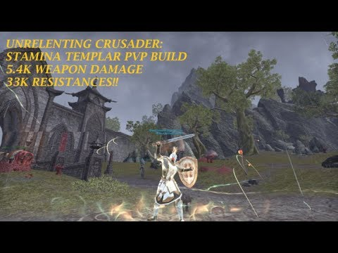 THE UNRELENTING CRUSADER: Stamina Templar PVP Build (Elsweyr) Great  Survivability, GREAT DAMAGE!