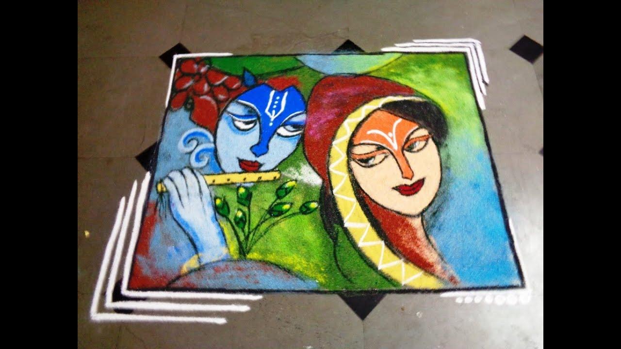 Painting Poster Rangoli Designs Art Rangoli