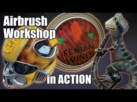 Learn how to Airbrush in our Level 2 airbrushing workshop