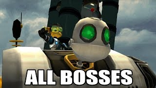 Ratchet & Clank 2: Going Commando - All Bosses (With Cutscenes) HD