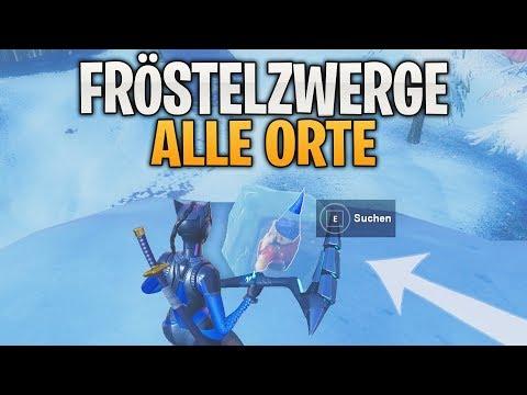 Fortnite: Suche Fröstelzwerge! - Alle Orte | Herausforderung Woche 6 Season 7 | Detu thumbnail