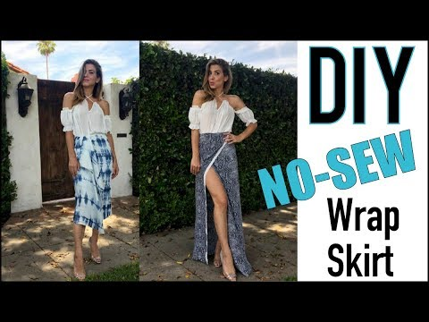 DIY: How to Make a Sexy NO-SEW Wrap Skirt