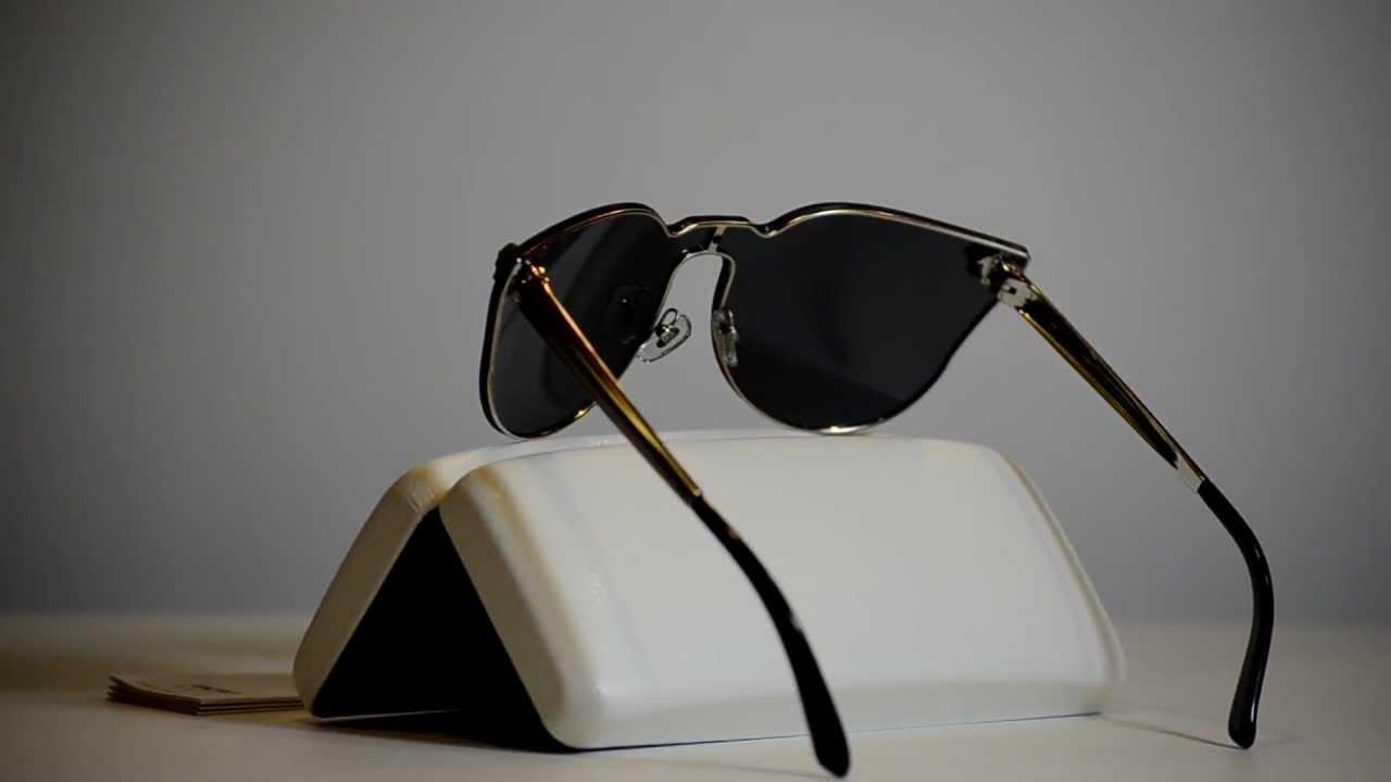 fd59b5f0cd5 New Unique Authentic Versace Sunglasses VE2120 100087 VE 2120 - YouTube