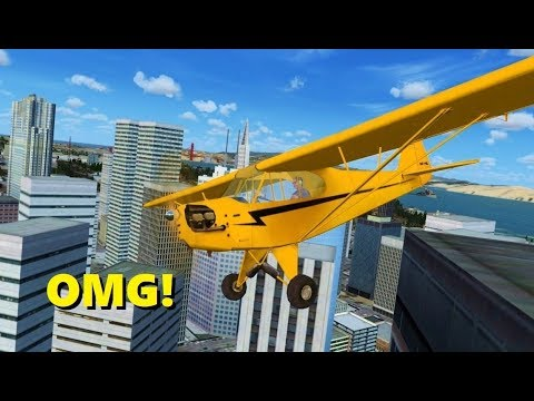 Landing on Top of BUILDINGS in Flight Simulator X! (Multiplayer)