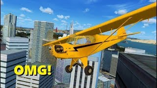 Landing on Top of BUILDINGS in Flight Simulator X! (Multiplayer)