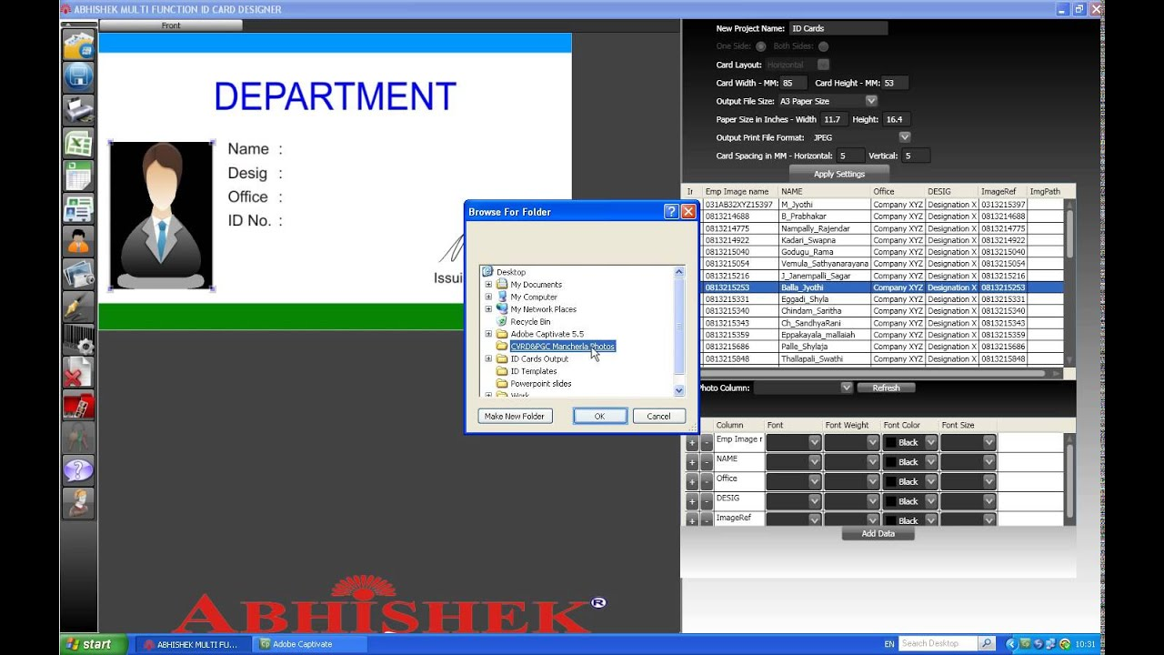 ID CARD SOFTWARE - free download - Convert Excel Sheet into ID Cards ...