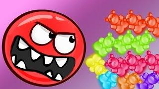 КРАСНЫЙ ШАР ПРОТИВ ЖЕЛЕЙНЫЙ МЕДВЕДЬ мультик игра для детей шарик и мишки из желе Red Ball 4 от Спуди