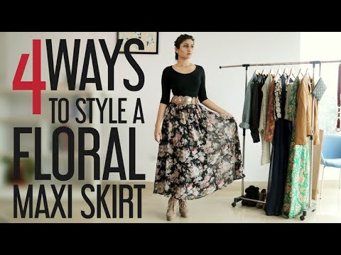 4b154d2a418f How to wear maxi skirt / Style hacks - YouTube