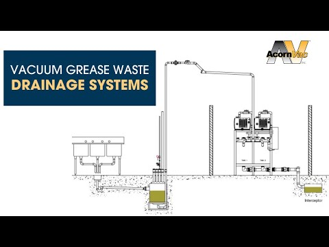 Vacuum grease waste drainage system overview by acornvac for Waste drainage system
