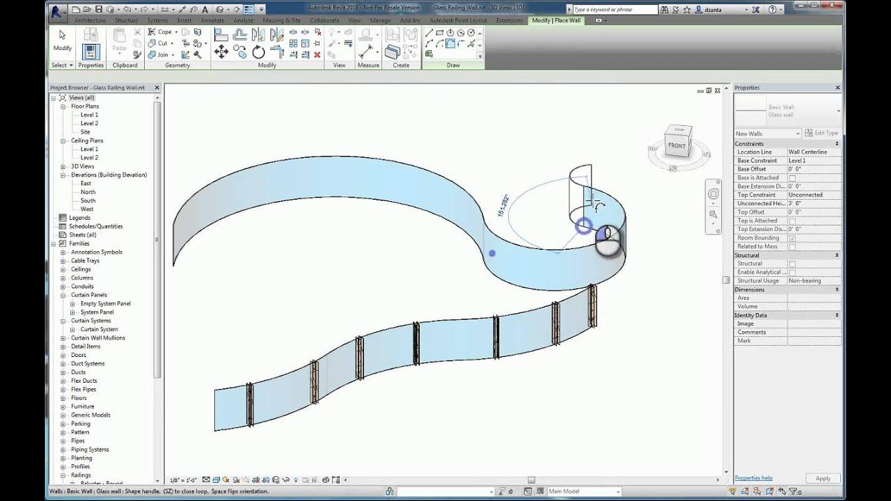 Revit Custom Glass Railing - A How To Guide