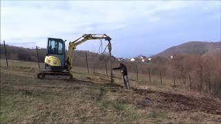 Начало строительства каркасного дома 1 день фундамент