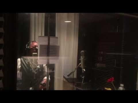 Don Felipe Muñiz grabando su primera Producción Musical