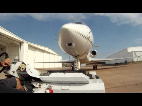 Towing a Gulfstream 550