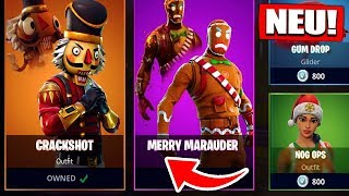 RARE Gingerbread & Nutcracker Skins come back BALD in SHOP! - Fortnite Battle Royale