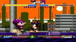 Sonic Freedom Fighters 2 Plus Match #3 - Shadow vs Chaotix (Espio STF version)