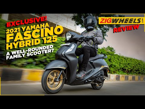 EXCLUSIVE: 2021 Yamaha Fascino 125 Hybrid Road Test Review   Better Than Ever Before?   ZigWheels