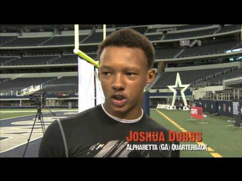 Joshua Dobbs - Alpharetta High School - Highlights/Interview - Sports Stars of Tomorrow