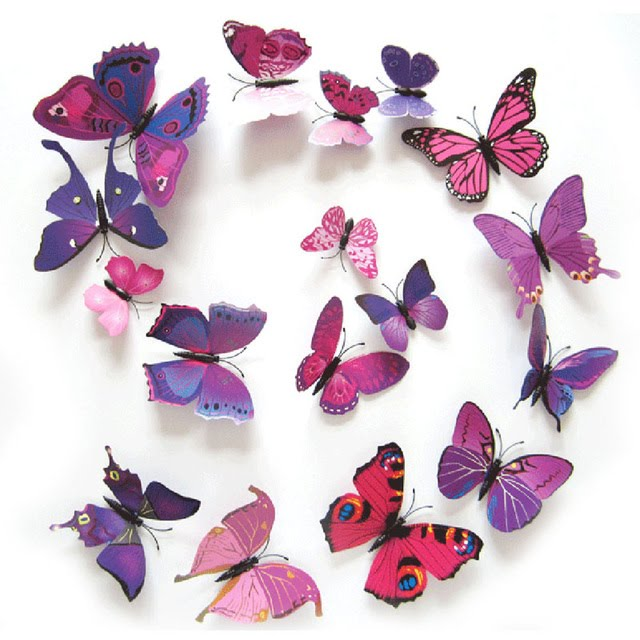 3d Butterfly Stickers   Butterfly Wall Decals   Butterfly Wall Stickers  Designs Part 73