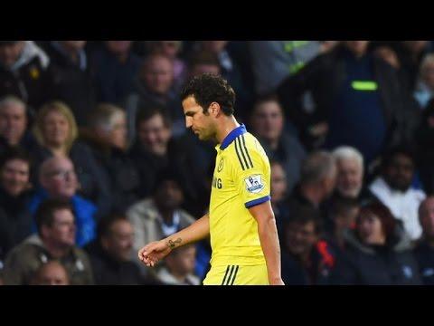 Cesc Fabregas Funny Red Card - Diego Costa Fight vs Gareth McAuley 2015 HD