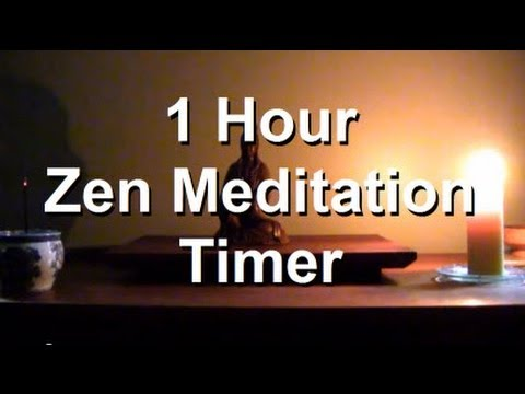 1 hour Meditation Candle Timer | Starts with 3 bells and burning Incense | Ends with one bell