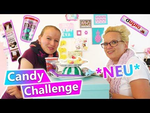 CANDY CHALLENGE  DIY Inspiration *neu* mit neuen Sorten WAS testen Eva & Kathi? Süßigkeiten? Snacks?