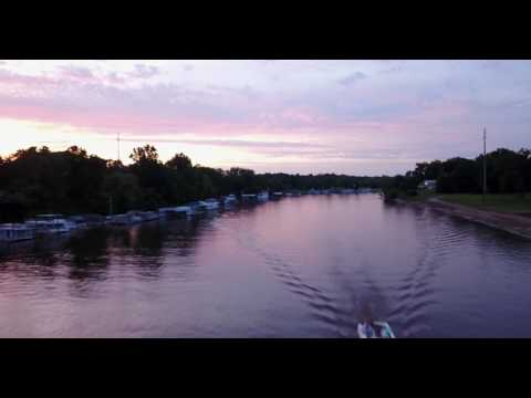 Ouachita River at Sunset by drone