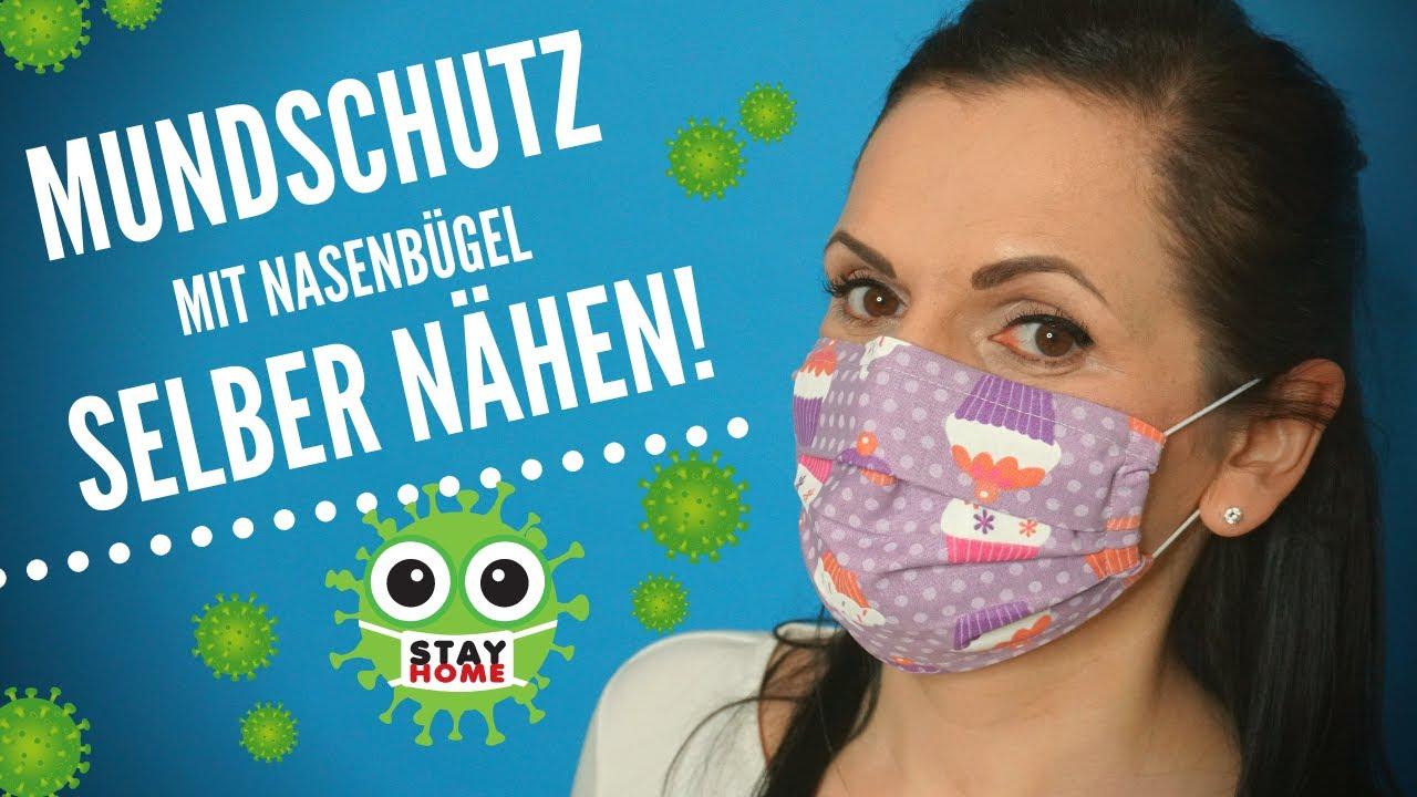 Mundschutz mit Nasenbügel ganz einfach selber nähen ...