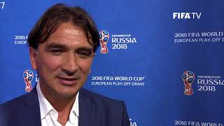 ‎Zlatko Dalić - European Play-Off Draw Reaction (EXCLUSIVE)