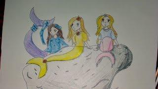 Speed Art #3: The Three Mermaids