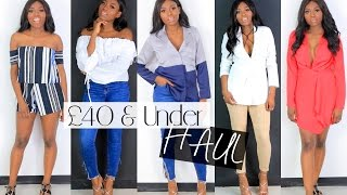 COLLECTIVE FASHION CLOTHING HAUL £40 AND UNDER | MISSGUIDED, ASOS, TOPSHOP BOOHOO & MORE