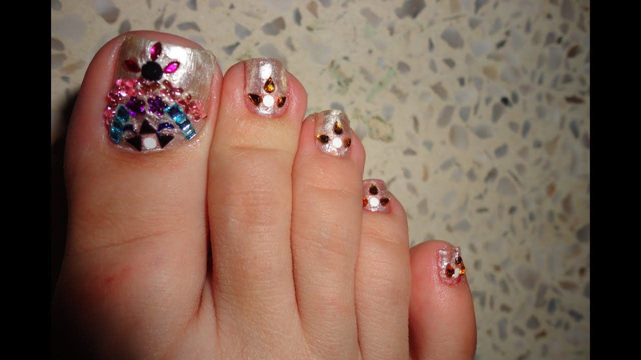 Traditional Toe Nail Art Tutorial + Review BPS.com - YouTube