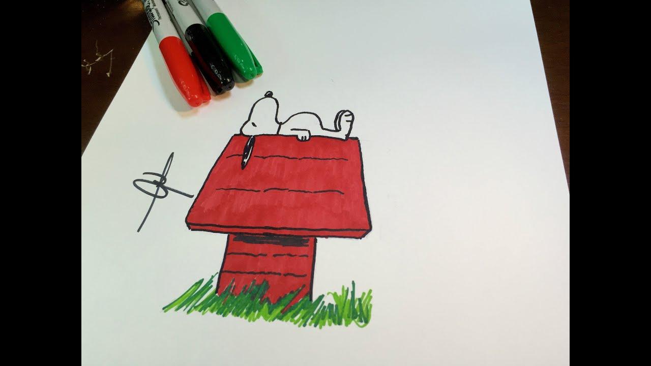 Como Desenhar Snoopy How To Draw Snoopy Youtube
