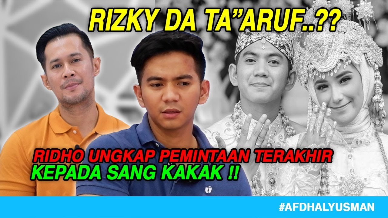 Download RIDHO DA UNGKAP CERITA DIBALIK PERNIKAHAN SANG KAKAK I #NyantaiBareng