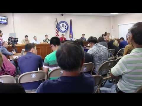 Howard Hemsing testifying at the Guam Legislature