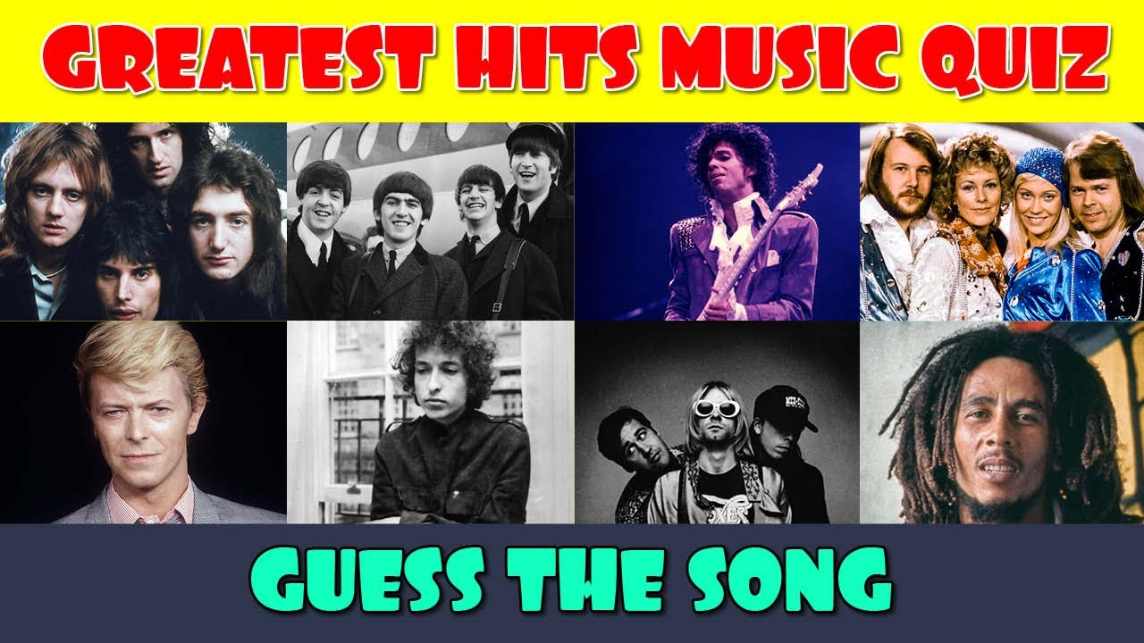 Greatest Hits Music Quiz Guess The Song Best Music Quiz Name That Tune Youtube