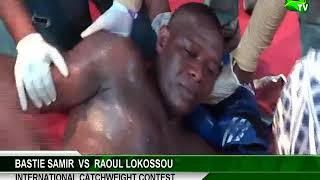 Raoul Lokossou collapses after receiving heavy punch from Bastie Samir