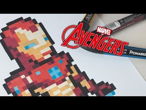 Pixel Art Iron Man