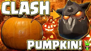 REAL LIFE LAVA HOUND PUMPKIN! - Clash of Clans Halloween Pumpkin Decorating!